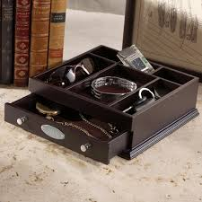 Mens Dresser Valet by Engraved Wooden Valet For Your Groomsmen