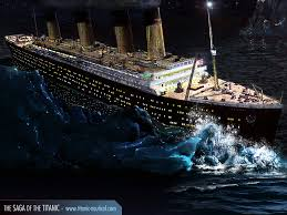 Lusitania Sinks In Real Time by When Titanic Collided With The Iceberg The Rivets In The Bow