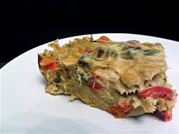 quiche sans pâte au thon aux légumes grillés