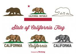 California Bear Vector State Flag