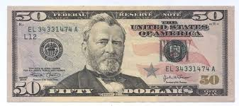 The United States Fifty Dollar Bill 50 Is A Denomination Of Currency 18th US President 1869 77 Ulysses S Grant Featured On