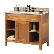 Allen And Roth Bathroom Vanity by Foremost Exhibit 37 In W X 22 In D Bath Vanity In Rich Cinnamon