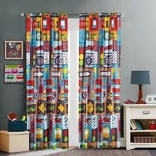 mainstays kids busy cars boys bedroom curtain panel walmart com