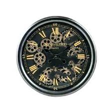 Moving Wall Clock Clocks In Stock New Decorative Traditional Black And Gold Medium Gears Digital