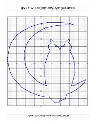 Halloween Multiplication Worksheets Grade 4 by Cartesian Art Halloween Owl