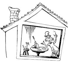 Dr Seuss Coloring Page The Cat In Hat For Kids Thing Pages