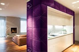 wohnzimmer und küche durch die trennwand getrennt