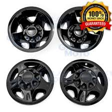 100 Chevy Truck Center Caps 0810 Silverado DUALLY Black 17 Wheel Simulator Liner