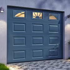 porte de garage sectionnelle hublots 240 x h 200 cm grise castorama