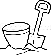 28 Collection Of Bucket And Spade Clipart Black White