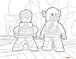 LEGO Flash And Green Lantern Coloring Page Printable Sheet