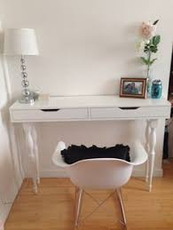 diy dressing table ikea hack floating shelf grey white girls