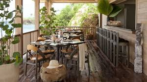 Balcony Dining Room Decoration Idea With Marble Table Chocolate Chair And Laminate Flooring Wooden