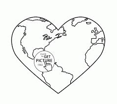 Earth Coloring Pages Page Free Printable For Kids Line Drawings