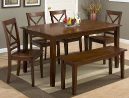 Simplicity Caramel Rectangle Dining Table With Four X Back Chairs