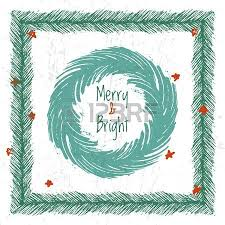 Ink Hand Drawn Christmas Tree Vector Brushes For Festive Borders And Frames Stock