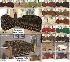 jacquard slip covers for sofas armchairs and suites ebay