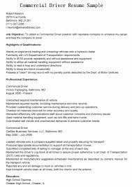 Resume For Truck Driver With No Experience | Resume Work Template