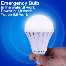 led smart bulb e27 5w led emergency light rechargeable battery