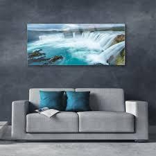 acrylglasbilder wandbilder aus plexiglas 125x50 wasserfall