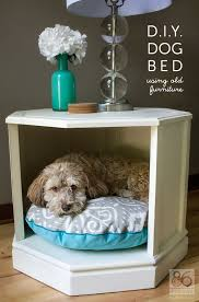 Pottery Barn Dog Bed a clever way to repurpose an old side table repurpose furniture