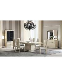 Chiara Collection 18754DT6CBMV 10 Piece Dining Room Set With Table 6 Chairs Buffet Mirror