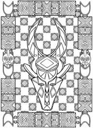 From Creative Haven African Design Coloring Book