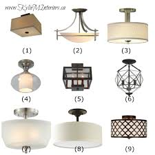 ideas to update lighting on a budget using flush mount light