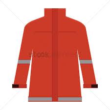 Firefighter jacket Vector Image