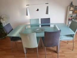6 esszimmerstühle 3 graue und 3 lindgrüne