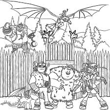 How To Train Your Dragon Coloring Pages For Kids Print Vikings