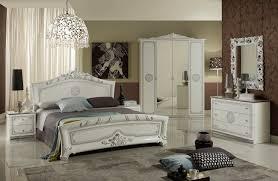 schlafzimmerset 6 tlg bett 160cm kleiderschrank 4 trg barock weiss silber