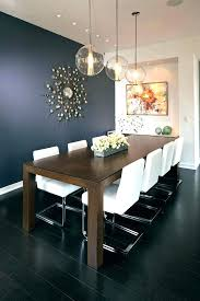 Accent Wall Lighting Navy Blue Dining Room