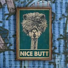 alpaka liebhaber schöne hintern poster wand kunstdruck home living badezimmer toilette dekor poster