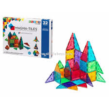 magna tiles clear colors 32 set free delivery toys