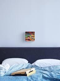 sein a coloured 4 floral rainbow rot blau gelb grün blumen abstrakt acrylgemälde leinwanddruck