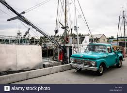 100 1964 Ford Truck F100 Pickup Fishermans Terminal Seattle Stock