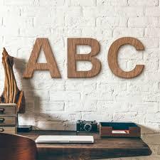 wanddeko holz schriftzug a 30cm große holzbuchstaben