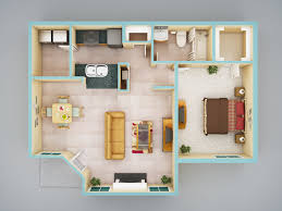 Granny Pods Floor Plans by 3d Colored Floor Plan Architecture Colored Floor Plan