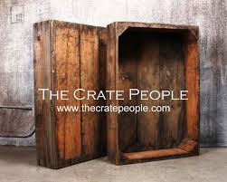 Vintage Wood Crates Large Raisin Sweat Boxes Thecratepeople