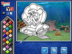 Play Princess Ariel Online Coloring Page Game