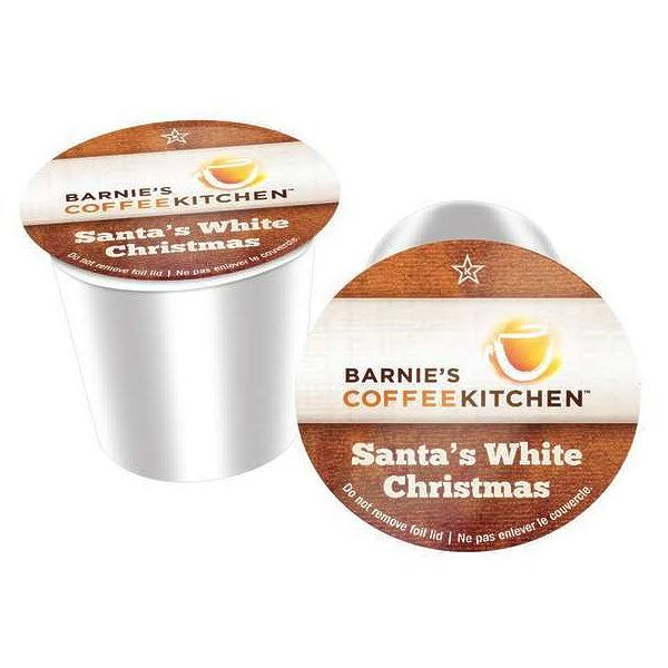 Barnie's Coffee Kitchen Santa's White Christmas Single Serve Coffee Cups, 24 Count