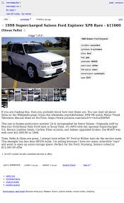 100 Craigslist Minneapolis Cars And Trucks By Owner For 11000 Could This 1998 Supercharged Saleen Explorer XP8 Put
