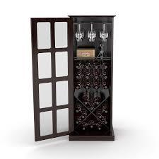 Free Standing Kitchen Cabinets Amazon by Amazon Com Atlantic 94835842 Windowpane 24 Wine Cabinet Espresso