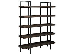 Open Bookcase by Starmore Modern Rustic Industrial Bookcase With 5 Shelves