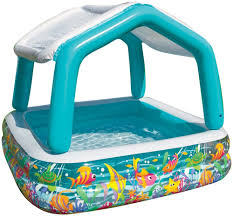 Inflatable Bathtub For Toddlers by Kids Inflatable Sun Shade Pool Canopy Drain Plug Swimming Summer
