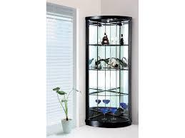 corner glass cabinet black corner cabinets