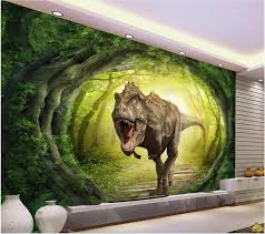 3d Wallpaper Custom Mural Photo Dinosaur World Scenery Forest Picture Room Painting Wall Murals