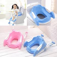 Frog Potty Seat With Step by Baby Toddler Kids Potty Toilet Training Safety Adjustable Ladder