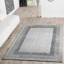 moderner teppich wohnzimmer velours teppiche bordüre silber